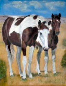 """Nature's Paints"", Mustang Series, 24"" x 18"" pastel, $525"